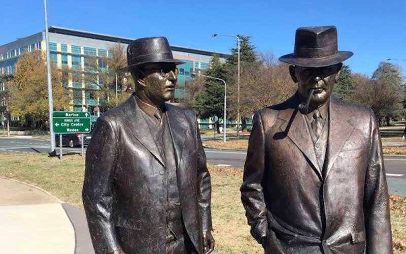Wonderful sculptures – John Curtin and Ben Chifley