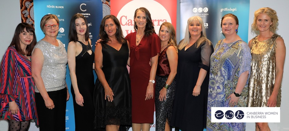 2019 Canberra Women in Business Award winners